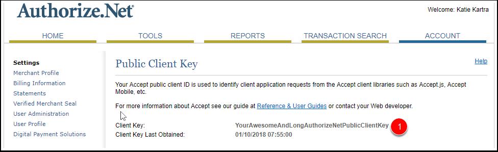 Auth Client Key