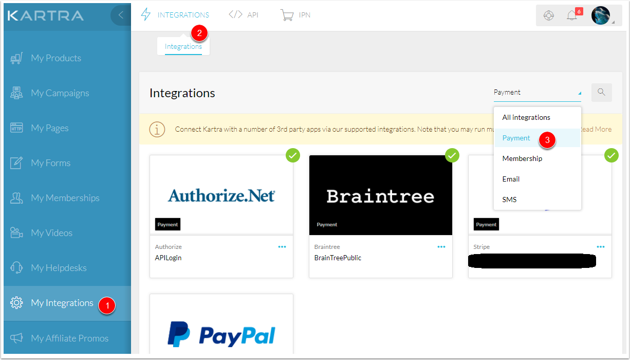 Integrations Payment